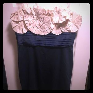 BCBG Strapless fitted dress